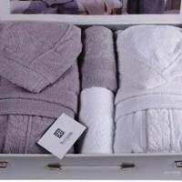 Махровые халаты для двоих полотенца Аде