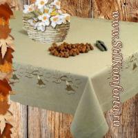 Льняная скатерть с вышивкой Ягнар