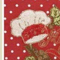 Новогодняя скатерть с вышивкой Мистер Санта 140х180