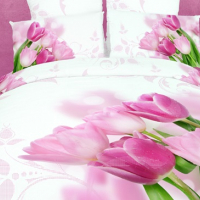Постельное белье с тюльпанами 086