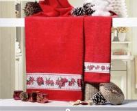 Новогодние махровые полотенца Стелина