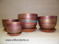 Керамические горшки для цветов Венеция 4.