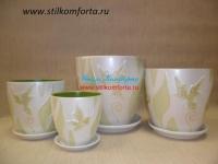 Керамические горшки для цветов Клен 4