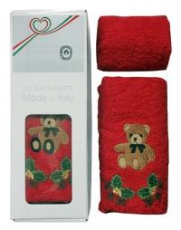 Набор из двух новогодних полотенец  Медвеженок
