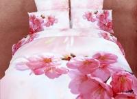 Постельное белье с розовыми цветами 074