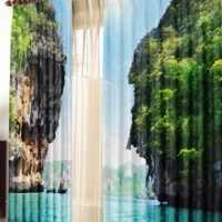 Фотошторы с печатью 3d изображений Берега