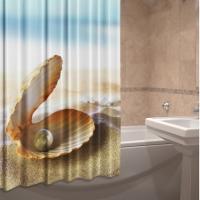 Фото штора для ванной текстильная Жемчуг