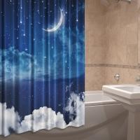 Шторка для ванной тканевая Ночное небо
