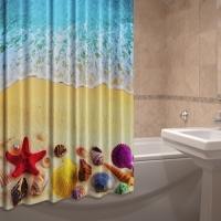 Текстильные шторки для ванной комнаты Берег