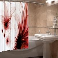 Шторка для ванны из ткани Гледес
