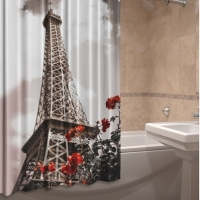 Шторка для ванны из ткани Париж