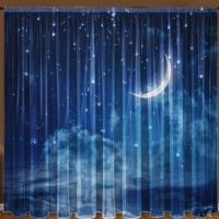 Комплект шторы и тюль Звездная ночь