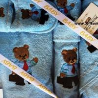 Халат махровый тапочки детский Мишка 5 предметов