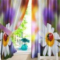 Комплект шторы и скатерть Салвия
