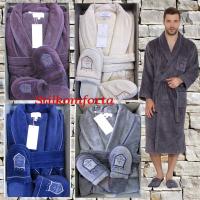 Мужской махровый халат с тапочками Лоусвел