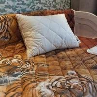 Одеяло покрывало и подушки бамбук комплект Тигры