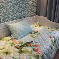 Одеяло покрывало и подушки бамбук Цветы