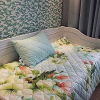 Одеяло покрывало и подушки Цветы