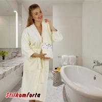 Женский махровый халат и два полотенца Жизелия