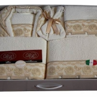 Халаты с полотенцами в наборе Женевра 14 пр