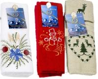 Новогодние махровые полотенца Нати