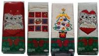 Новогодние махровые полотенца Мелан