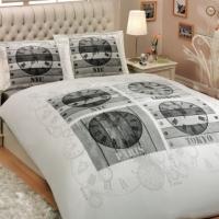 Молодежное постельное белье Городские часы