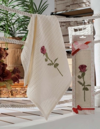 Кухонное полотенце в подарочной коробке Роза