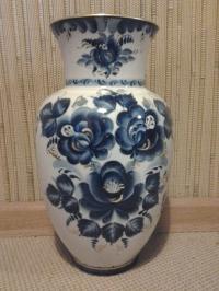 Напольная ваза Гжель