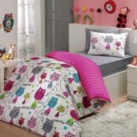 Детское подростковое постельное белье Кошки роза