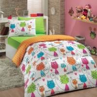 Детское подростковое постельное белье Кошки оранж