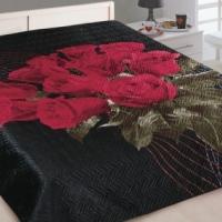 Покрывала 3d Розы на черном