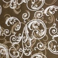 Жаккардовое покрывало 301 лиловый и коричневый