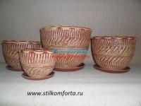 Керамические горшки для цветов Терракот 3