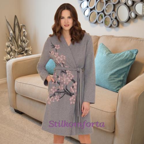 Теплый женский халат Кларисса