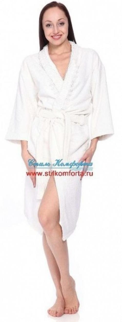 Халат махровый с вышивкой полотенца Жизелия