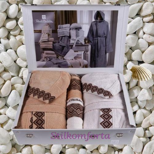 Махровые халаты для семьи Ромина