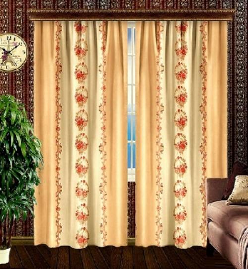 Готовая штора в зал Корзины