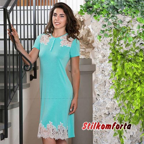 Ночная сорочка бирюзовая модел Аманти