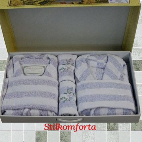 Набор халатов семейный с полотенцами Дессиерджио - скидки