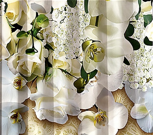 Фотошторы Орхидея белая
