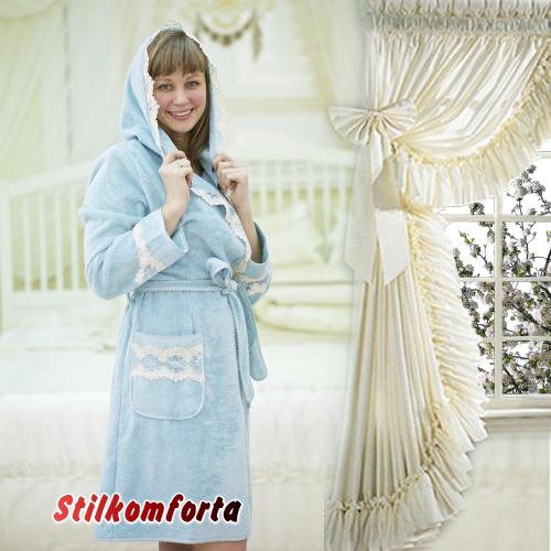 Бамбуковый женский халат тапочки Ване