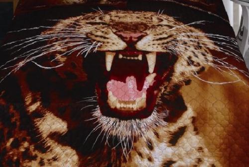 Покрывало стеганое сатин Тигр