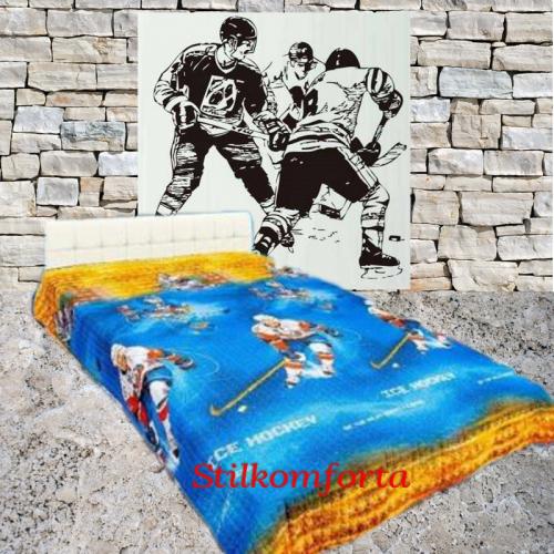 Детское покрывало хлопок Хоккеисты