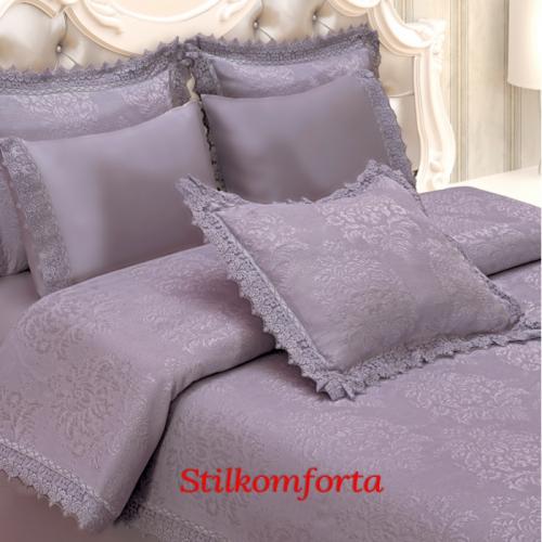 Свадебный постельный комплект с покрывалом Поли