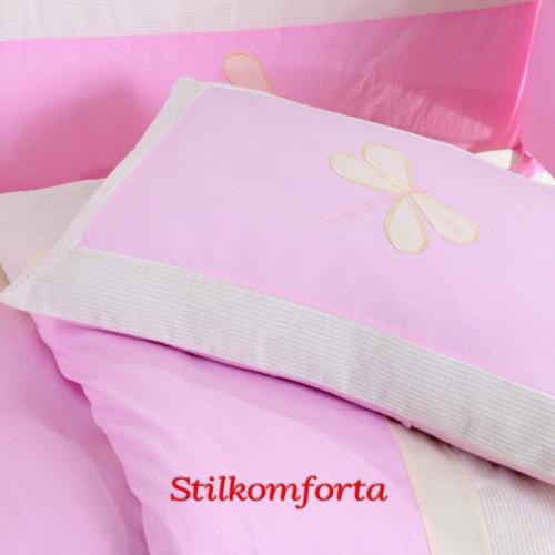 Белье для новорожденных с бортиками Бабочки