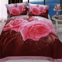 Покрывало стеганое сатин Букет роз