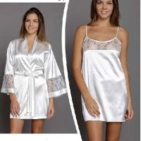 Комплект ночная сорочка и пеньюар Шанель
