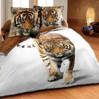 Постельное белье сатин Дикие кошки 3D 063