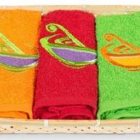 Набор кухонных полотенец в корзине 0513